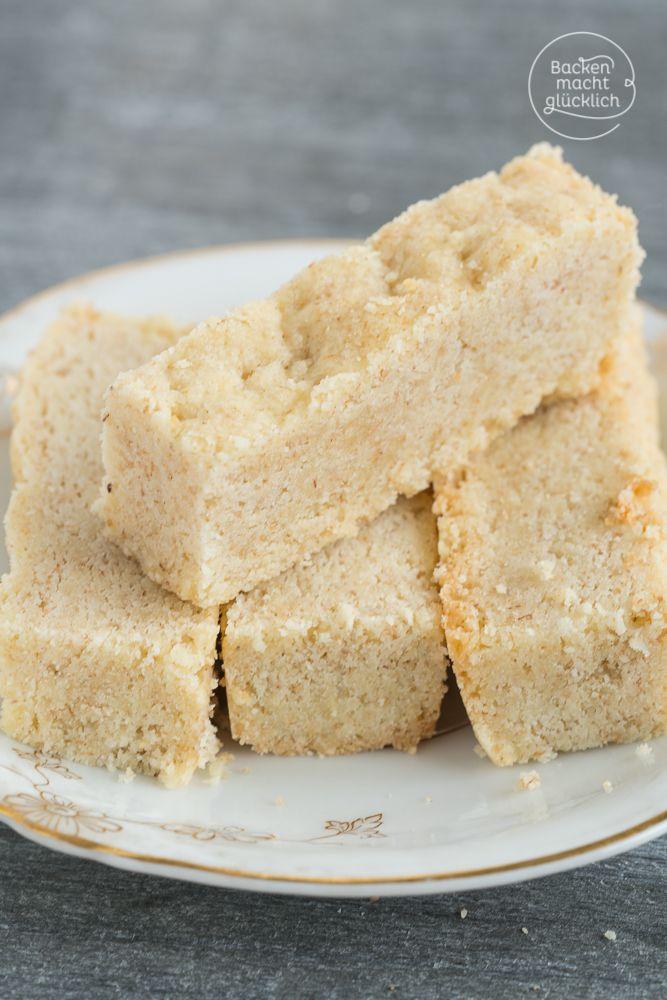 Shortbread, das klassische schottische Teegebäck, wird durch Gries und Salz im Knetteig so besonders. Dieses Rezept für Shortbread Fingers ist extrem schnell gemacht und auch für Anfänger toll geeignet | http://www.backenmachtgluecklich.de