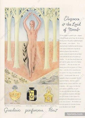 Guerlain (Perfumes) 1930 Shalimar, Liu, L'Heure Bleue, Drawing Buk