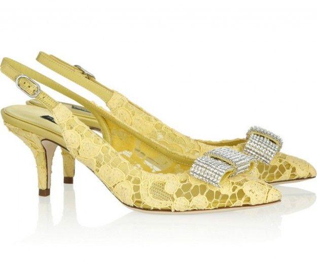 Slingback gialle Dolce & Gabbana