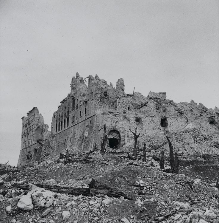 montecasino italy | ... Collection ›› A view of a Monte Cassino monastery, Italy, May 1944