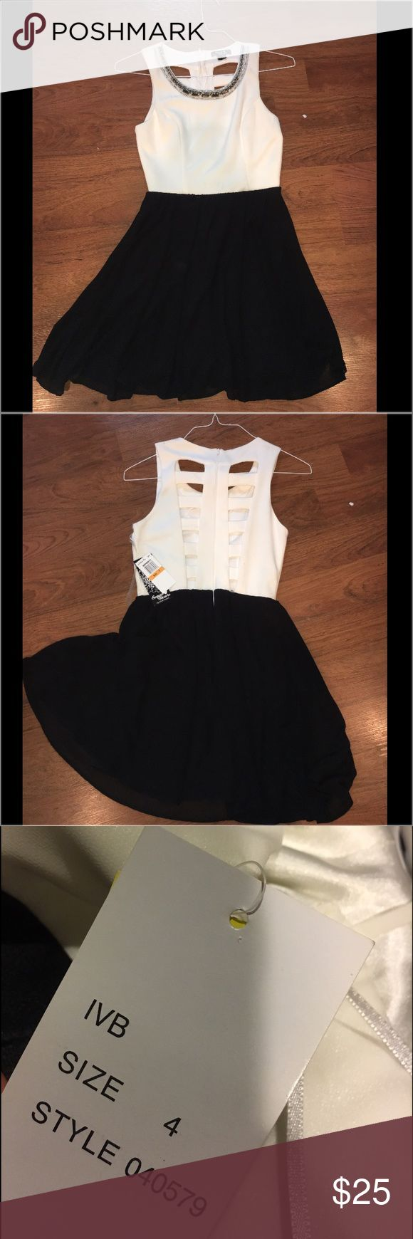 Black and white dress Can be used as a business dress or semi formal Dresses