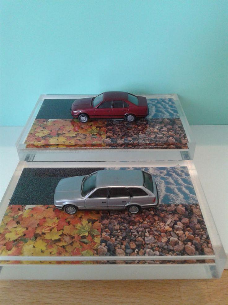 5er BMW 525i Touring/Limousine (E34) 1:87 * Herpa Plexiglasplatte