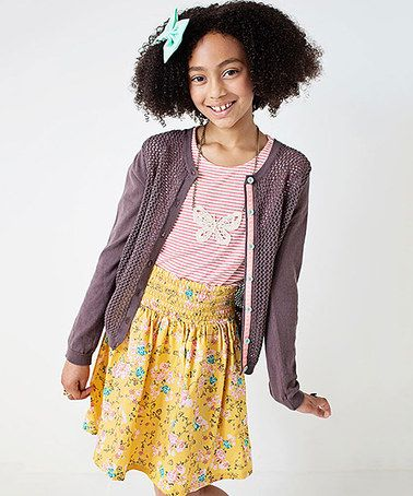 Look what I found on #zulily! Lavender Jordyn Cardigan - Girls #zulilyfinds
