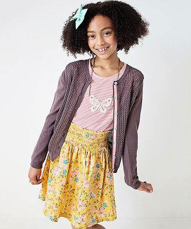 Look at this #zulilyfind! Lavender Jordyn Cardigan - Girls #zulilyfinds