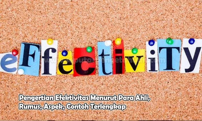 Pengertian Efektivitas Menurut Para Ahli Rumus Aspek Contoh Membaca