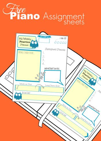 FREE printable assignment sheet that's NOT boring! I always use a fun & colorful assignment sheet for my students & this one from TeachPianoToday is now on my list!