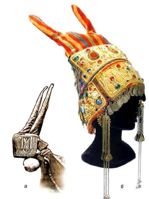 Рогатая кичка – свадебный головной убор казачки-некрасовки, начало XIX века.