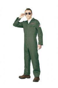 1980s: Top Gun Aviator Fancy Dress Costume (Upto plus Size).