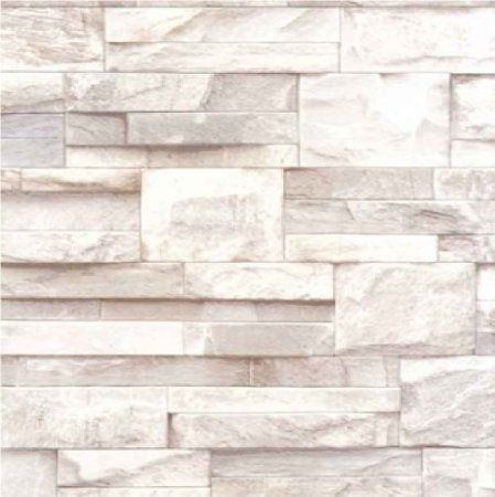 New Luxury Muriva Slate Stone Brick Wall Effect Textured