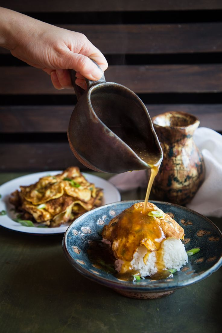 15074 best asian foodsrecipe collections images on pinterest egg foo yong asian omelette with gravy forumfinder Choice Image