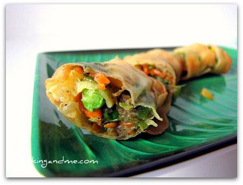 Vegetable Spring Rolls! i want to make these someday they look so good!