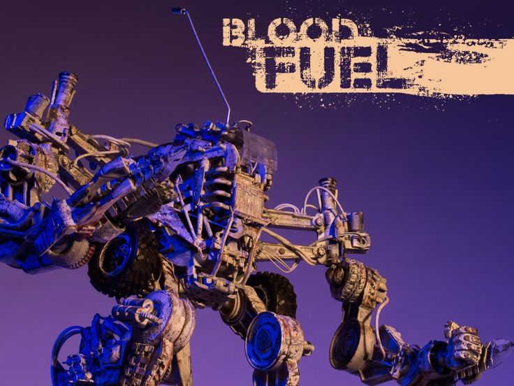 ArtStation - Ghost Maker, Blood Fuel Custom Mech Kit-bash, Custom Toy, Articulated Sculpture, Hand painted and weathered, Created and Designed by Caleb Prochnow, concept design, visual development