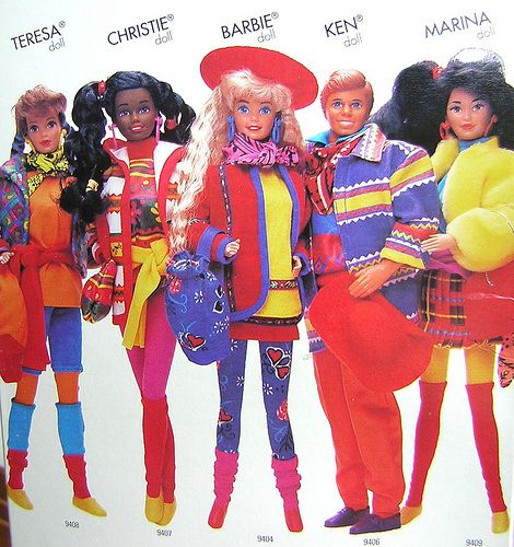 UNITED COLORS OF BENETTON Barbie and friends 1990. Benetton was a HUGE deal when I was growing up - I almost ended up working for them in college. :)