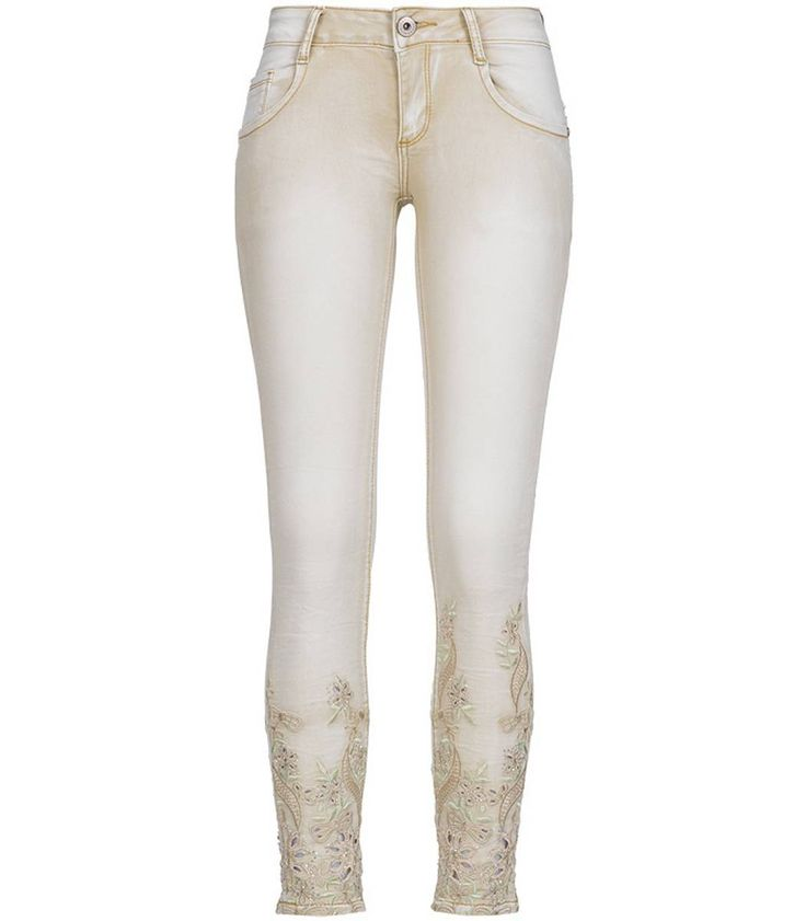 Madonna Damen Jeans Stretch Hose Crash mit Strass – Bild 3