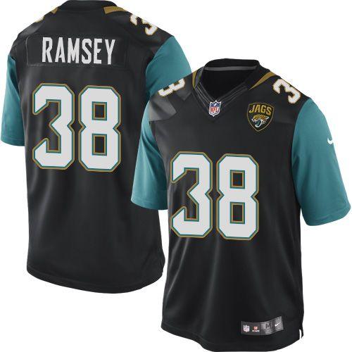 Men's Nike Jacksonville Jaguars #38 Jalen Ramsey Limited Black Alternate NFL Jersey