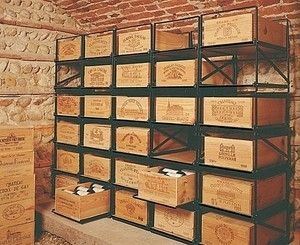 Wine case shelving by terry