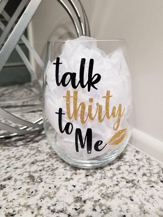 Talk Thirty To Me – Perfect for Ideas for a Thirtieth Birthday (Party Gift or Gift)   – Verpackungen Geschenke