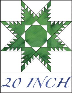 quilt design - Feathered Star