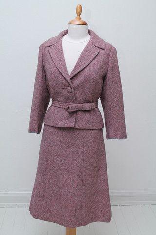 Rosa spadsererdragt 1960. M-L