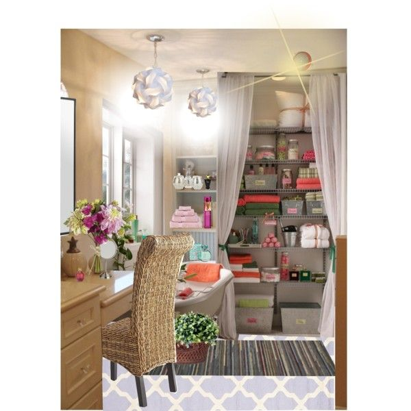 BATHROOM-- FAVORITE SPACE by wasupfirefairy on Polyvore featuring interior, interiors, interior design, home, home decor, interior decorating, Pier 1 Imports, Safavieh, Thos. Baker and OKA