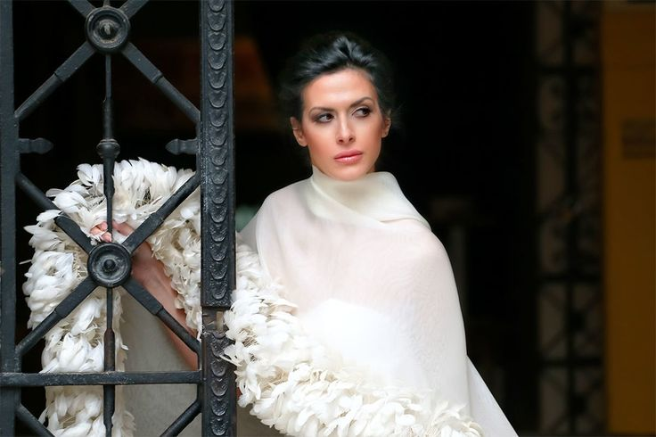 bridal-feather-dress by Alkmini