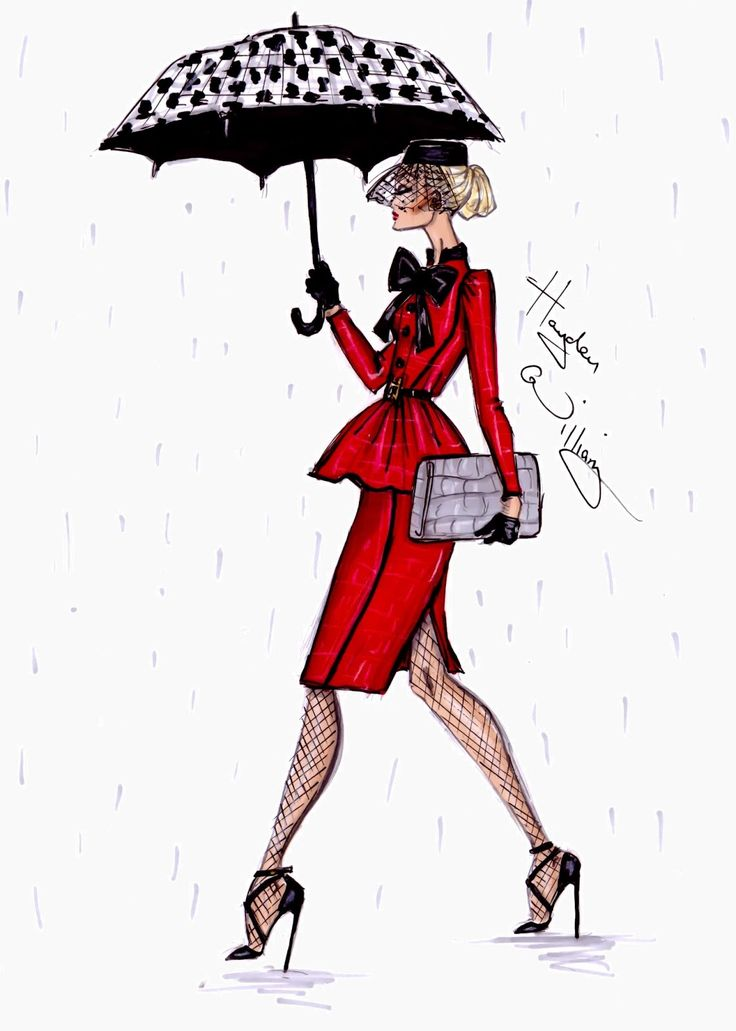 #Hayden Williams Fashion Illustrations  #'April Showers' by Hayden Williams