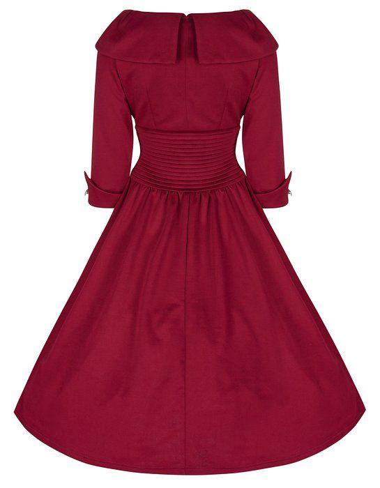 Lindy Bop 'Ramona' Subtly Seductive Vintage 50's Inspired Swing Dress (XS, Black)