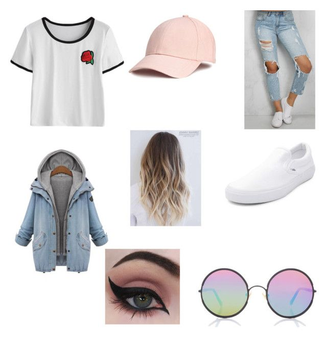 """cute outfit (first outfit)"" by laaauuurrriiiii ❤ liked on Polyvore featuring Sunday Somewhere, Rare London, Vans and Concrete Minerals"