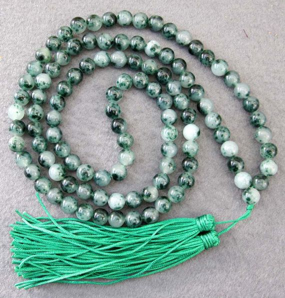 8mm Tibetan Buddhist Stone Meditation Yoga 108 Prayer Beads Mala Beaded Necklace  ZZ099