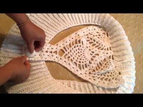 ▶ Bolero o torera en crochet y dos agujas - YouTube