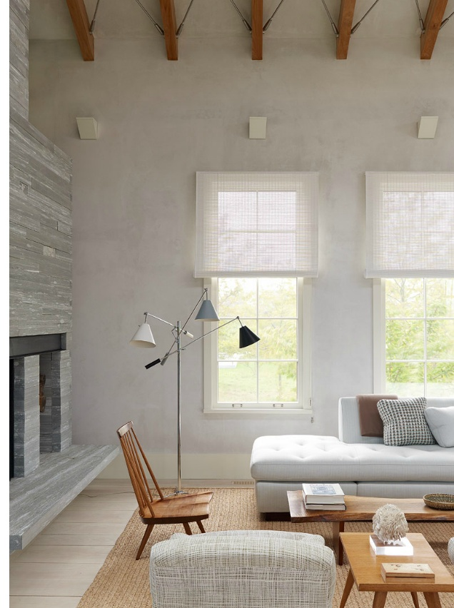 Light airy neutral gray and brown living room within for Grey and neutral living room