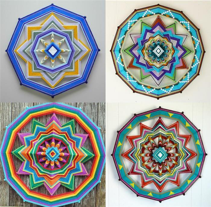 Belas e Inspiradoras Mandalas de Fios de Lã