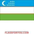 5' x 8' Uzbekistan High Wind, US Made Flag
