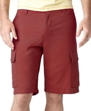 $29, Burgundy Shorts: Dockers Shorts Core Cargo Shorts. Sold by Macy's. Click for more info: https://lookastic.com/men/shop_items/48734/redirect