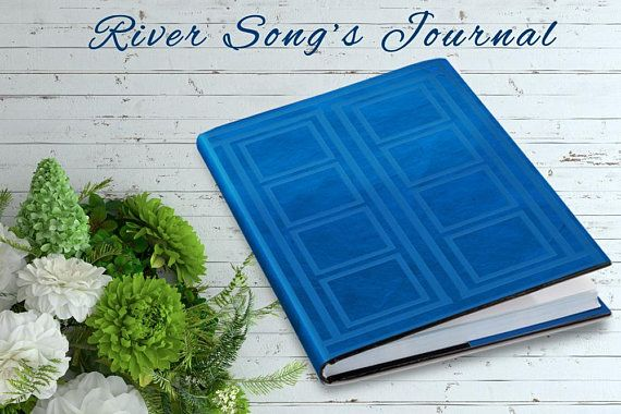 River Song's Journal | Tardis Blue | 5.75 x 7.5 Case Bound Journal