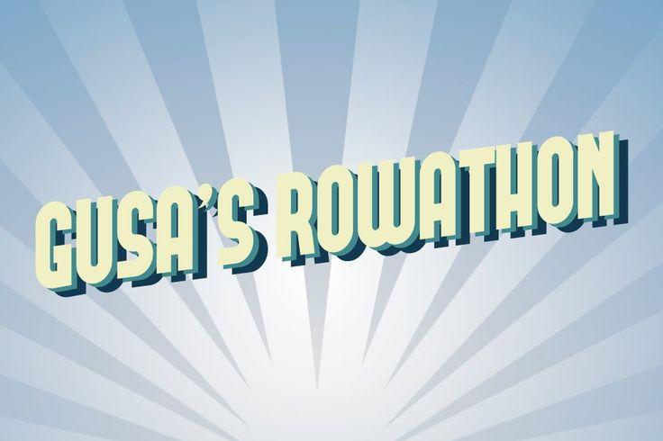 GUSA ROWATHON - Heading, title or logo design for the Glasgow University Student Association's fundraising event called GUSA Rowathan (Glasgow University Student Association Rowathon). This was in collaboration with ENABLE Scotland's Fundraising Event. #logo #branding #identity #rowathon #rowing #rowingclub #GlasgowUniversity