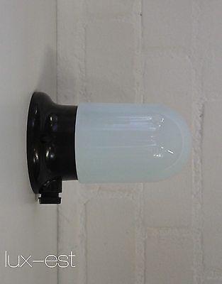 ERKNA S AP Bauhaus Ra Zweck Design Lampe Bakelit Opal Glass Light Fixture