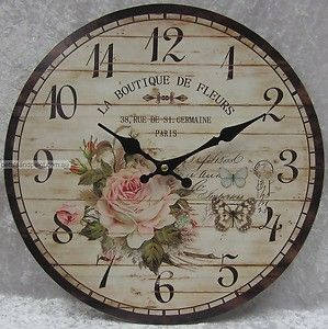 Our clock ~ vintage french clock ~ shabby chic