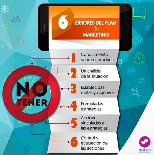 6 errores que se cometen en el plan de #marketing