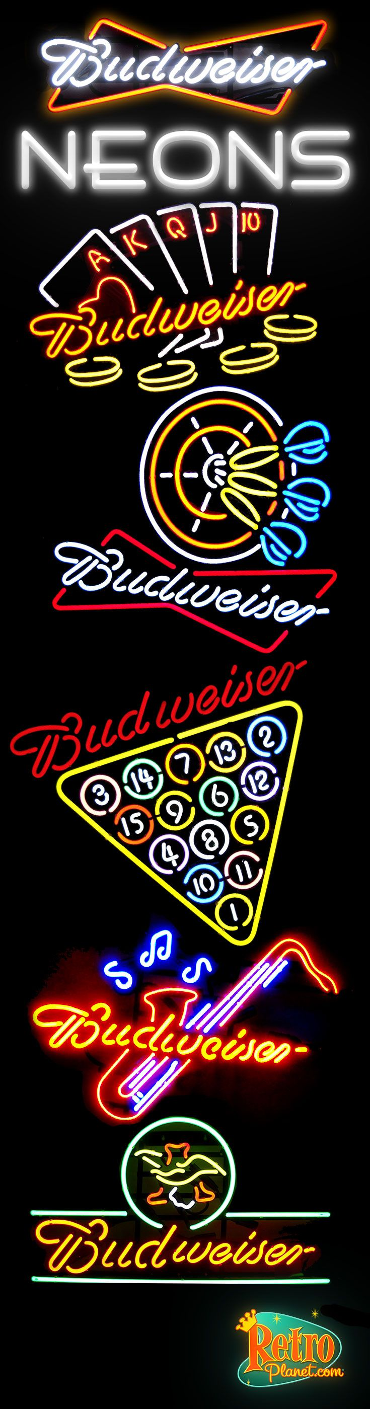 Budweiser is one of the most widely known American style lager beers in the country. These beer drinkers truly love that light and smooth flavor so why would not they truly love any of these cool Budweiser Neon Signs.
