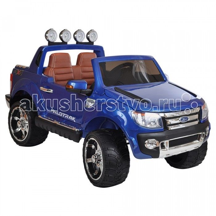 """Электромобиль Dake Ford Ranger  Электромобиль Dake Ford Ranger с потрясающим дизайном и качеством детализации для детей от 1 года до 8 лет.  Особенности: одно посадочное место для малышей старше 3-х лет 2 посадочных места для малышей от 1,5 до 3-х лет стильный дизайн, похож на джип марки Форд бескамерные резиновые колеса кожаное сидение функция """"чемодана"""" аккумулятор 12V/7Ah два двигателя: 2x35W движение вперед и назад родительский пульт Д/У ремни безопасности удобный руль с музыкальными…"""