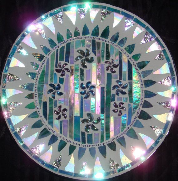 stained glass plate
