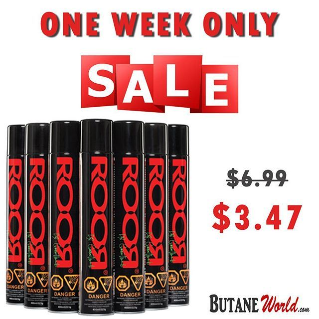 ONE WEEK SALE ONLY! SAVE UP TO 50% OFF on ROOR Ultra Purified Butane Gas 400ml  Limited Time Sale: $3.47 Always Cheapest Prices ;) Order Now: www.ButaneWorld.com  #Sale #Offers #Butane #Cheap #torch #cigar #lighters #roorbutane #roortane #roorcase #butanefuel #ButaneGas #Lighter #Fluid #Gas #Fuel #Case #Box #ButaneCan #CleanButane #ZeroImpurities #UltraPurified #extrapurified #zeropurities