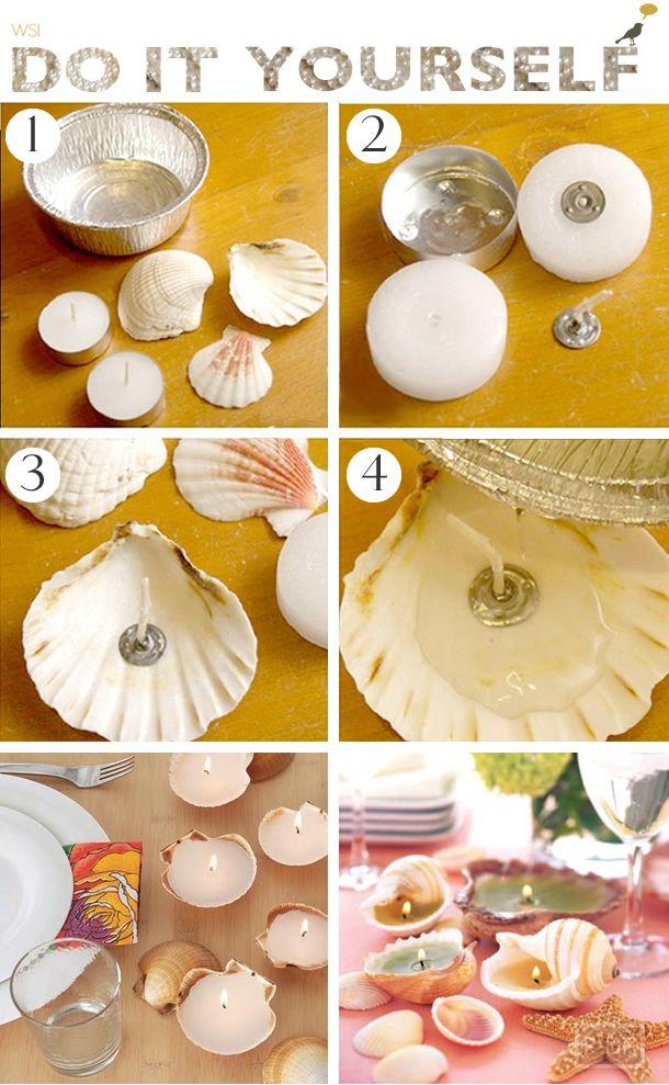 decoração-vela-concha