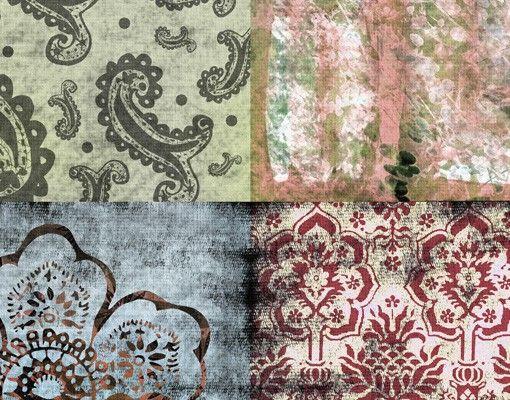 Selbstklebende Tapete Auf Fliesen : Selbstklebende Tapete – Fototapete Old Patterns