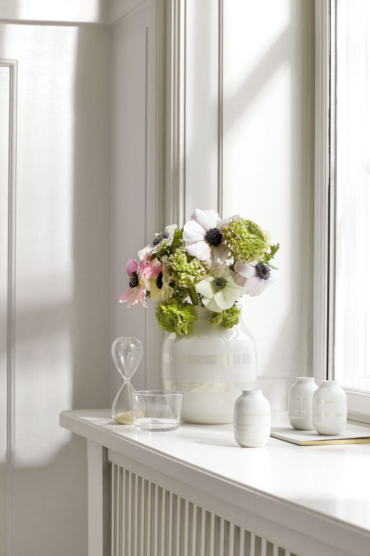 Kahler Omaggio vase in mother-of-pearl