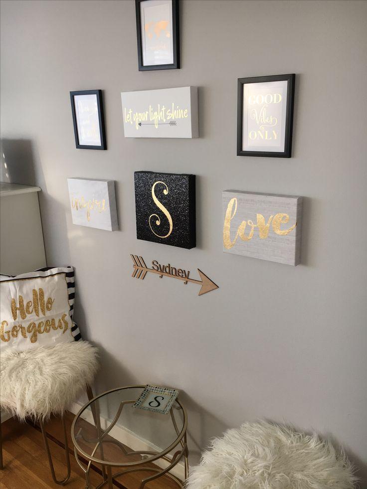 Top 25+ best White gold bedroom ideas on Pinterest White gold - black white and gold living room ideas