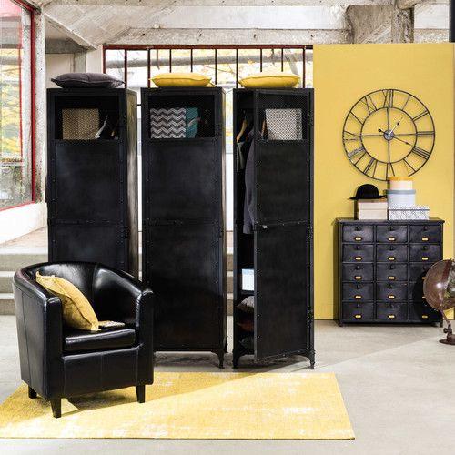 Metallkommode im Industrial-Stil, B 88cm, schwarz Edison | Maisons du Monde