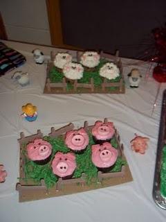 Farm Animal Cupcake Ideas