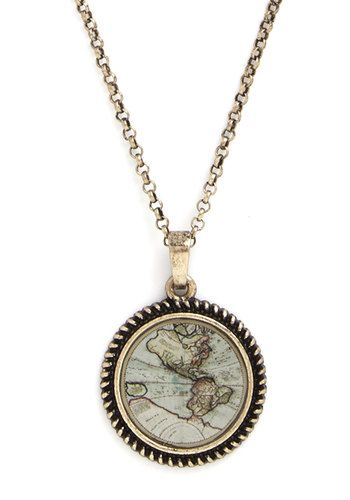 Plot the Course Necklace. On your summer road trip, youre the natural navigator - exemplified by this ModCloth-exclusive map necklace. NaN